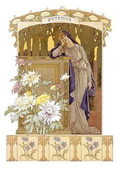 Automne (Autumn)  Elisabeth Sonrel  French Painter  (1874 – 1953)
