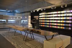 Cement Design Headquarters #cementdesign #architecture #interiorism #interiordesign #interior #showroom #shop #inspiration #flagshipstore Cement Design, Commercial Design, Showroom, Conference Room, Architecture, Store, Table, House, Inspiration
