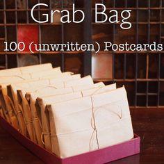 100 unused postcards Grab Bag - HUGE lot - Postcrossing starter kit