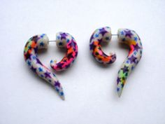 Cosmic Trippin' Fake Gauge Earring Glow in the dark  by Deceptions, $24.00