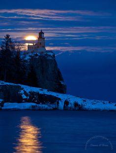 Split ROck, Northern Images Journal: Moonrise