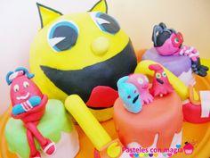 Tarta pacman 3D - Tarta comecocos- pacman cake-  tarta para niños - boy cake