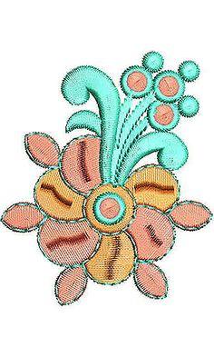 Satin Dress Applique Embroidery Design