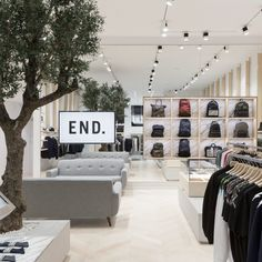 Brinkworth has designed marble-lined interiors for menswear brand End Clothing's new store in Glasgow, which is set inside an old post office.