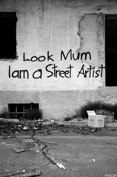 a kind of hello world street art)