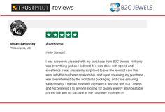 B2C Jewels Review on Trust Pilot by Micah Sandusky