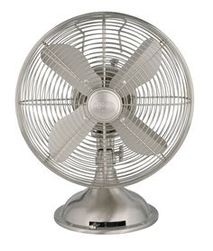 Amazon.com - Hunter 90400 12-Inch Portable Table Fan, Brushed Nickel - Electric Household Tabletop Fans