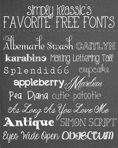 Yellow Bliss Road: Favorite Free Fonts, Part Two by leigh