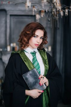 Student of the Slytherin Faculty10 by https://veronart.deviantart.com on @DeviantArt
