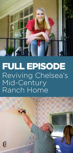 """Watch Chelsea move into a #midcentury home, along with the surprises and disappointments she encounters along the way. #Stream this FULL episode of """"Today's Homeowner,"""" right now! #homeimprovement #diy #fullepisode Mid Century Ranch, Ranch Style Homes, Full Episodes, Improve Yourself, Chelsea, Home Improvement, Watch, Diy, Clock"""