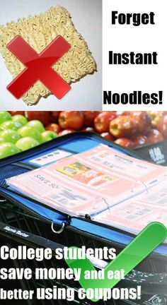 Tips for college students - why eat tasteless noodles when you can score awesome deals on fresh food by making the most of extreme couponing?