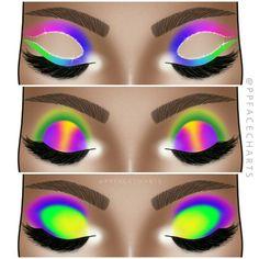Makeup Looks For Green Eyes, Makeup Eye Looks, Cute Makeup, Eyeshadow Designs, Online Makeup Stores, Graphic Makeup, Makeup Face Charts, Makeup Drawing, Baddie Makeup