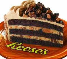 Chocolate Peanut Butter Thunder Layer Cake with Reese's Peanut Butter Cups- from Sara Lee
