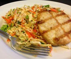 Paleo Dinner: Mahi Mahi Burger with Sesame Lime Asian Slaw