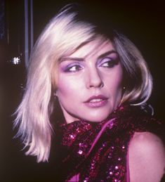 """Original pinner says, """"Debbie Harry - Actual never never published Debbie Harry photo at an awards show in L.A. I think I took this one around 1980. Photo & Words by Brad Elterman"""""""
