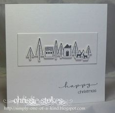 Beatiful simple christmas card