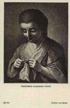 Friederike Elisabeth Oeser (1748-1829) dochter van Oeser van wie Goethe tekenles in Leipzig kreeg