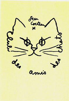 Club des amis des chats -- Jean Cocteau