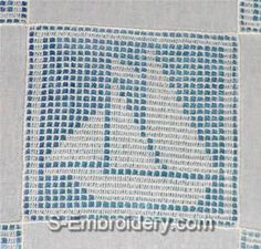 Freestanding lace crochet boat square