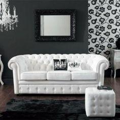 7 fantastiche immagini su divano in pelle | Canapes, Chaise longue e ...