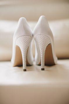 8cf114c61902 White Bridal Heels - Elizabeth Anne Designs  The Wedding Blog
