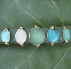 Beach-glass Rings (Sea-glass)