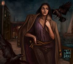 """blogtealdeal: """"Fanart of @lbardugo 's Character Inej form Six of Crows and Crooked Kingdom. """"Coming Home"""" """""""