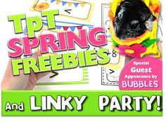 Find lots of fantastic spring TpT freebies to get you through the season!