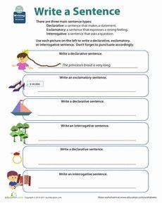 Get into Grammar: Types of Sentences Worksheet