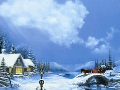 Country Christmas Backgrounds | Wallpapers9