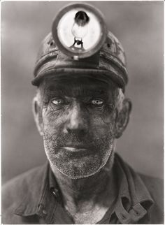 A close-up portrait of a coal miner in Omar, West Virginia, 1938.  Photograph by B. Anthony Stewart, National Geographic