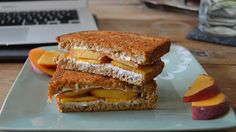 """Sandwich #170–""""Small and Sweet"""" Grilled Peach and Cream Cheese"""