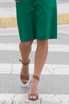 The Ankle Strap Heel- Nude | Emerson Fry