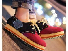 รองเท้าผ้าใบแฟชั่นเกาหลีใหม่ TREND นำเข้า มี3สี พรีออเดอร์HS136-0