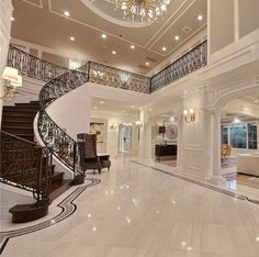 33 trendy house goals mansions bedrooms interior design - New Ideas Dream Home Design, Modern House Design, Luxury Interior, Home Interior Design, Exterior Design, Modern Mansion Interior, Dream House Interior, Beautiful Houses Interior, Luxury Rooms