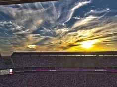 Awesome sunset over Bryant-Denny Stadium-Tuscaloosa, Al. Home of the Alabama Crimson Tide