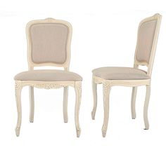 Provencale Upholstered Pair Of Dining Chairs Laura Ashley