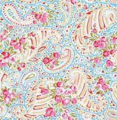 """Tanya Whelan, Delilah, Paisley blue Ein wunderschöner Paisley aus der """"Delilah"""" Kollektion von der US Designerin Tanya Whelan - bekannt für nost..."""