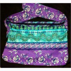 Purple/ Teal Floral Tote