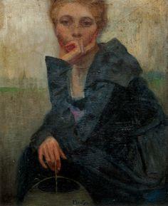 Alfons Mucha (1860-1939 Tsechië) • Portrait of girl