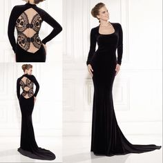 Free shipping, $138.22/Piece:buy wholesale  Tarik Ediz 2015 Black Evening Dresses Lace Prom Gowns Long Sleeves Sweep Train Appliques Custom Made Scoop Neckline Vestidos Celebrity Gonws2014 Fall Winter,Su Zhou,China(Mainland),Reference Images on ballydress's Store from DHgate.com, get worldwide delivery and buyer protection service.