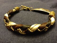 handmade horse hair bracelet with bronze horse by TheSpoiledPony, $60.00