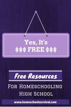 Free Resources for Homeschooling High School - HomeschoolSurvival.com