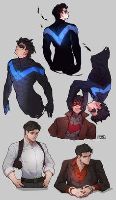 dick/ jason fan art by JJMK Jason Todd Batman, Red Hood Jason Todd, Jason Todd Robin, Batman Comic Art, Gotham Batman, Batman Robin, Nightwing, Batgirl, Univers Dc