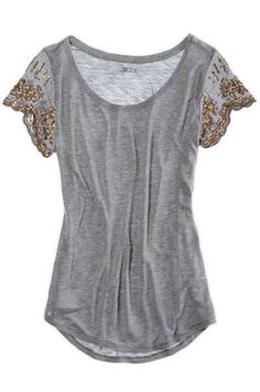 Sequin Sleeve Blouse ♥