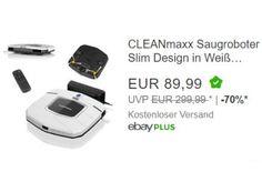 Ebay: Cleanmaxx Staubsaugerroboter für 89,99 Euro frei Haus https://www.discountfan.de/artikel/technik_und_haushalt/ebay-cleanmaxx-staubsaugerroboter-fuer-8999-euro-frei-haus.php Neu kostet der kleine Helfer je nach Onlineshop mindestens 150 Euro, bei Ebay ist er jetzt für einen Tag als B-Ware für unter 90 Euro frei Haus zu haben: Der Cleanmaxx Saugroboter Slim Design. Ebay: Cleanmaxx Staubsaugerroboter für 89,99 Euro frei Haus (Bild: Ebay.de) Der Cleanmaxx Saugroboter.