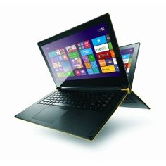 Refurbished Grade A1 Lenovo Flex 2-14 Pentium 3558U 6GB 1TB Windows 8.1 14 inch Full HD Convertible Laptop in Yellow