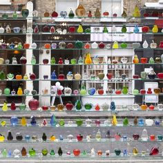 Murano glass apples and pears in the window of this trattoria in Soho London