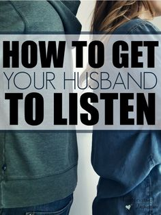 How many times does your husband try to fix something when all you need is for him to listen?