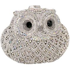 Exquisite Silver Owl Design Crystals Hard Case Clutch Evening Bag Handbag Purse w/Detachable Chain MG Collection,http://www.amazon.com/dp/B00ANBE002/ref=cm_sw_r_pi_dp_kvsosb07ZXPS38XN